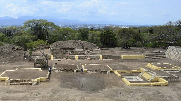 Meksika'nın Tehuacan kentinde bir arkeolojik kazı alanı
