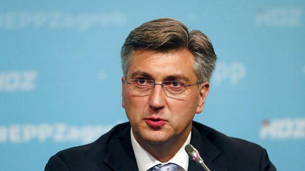 Andrej Plenkovics sajtótájékoztatón