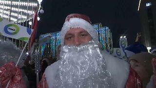 Парад Дедов Морозов в Москве