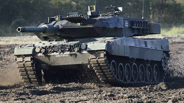 In this Wednesday, Sept. 28, 2011 photo a Leopard 2 tank is pictured during a demonstration event held for the media by the German Bundeswehr in Munster near Hannover, Germany