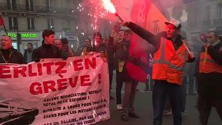 Предновогодние акции протеста во Франции