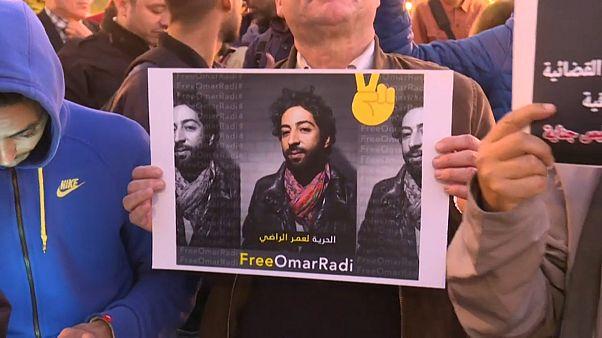 Les manifestants demandent la libération d'Omar Radi