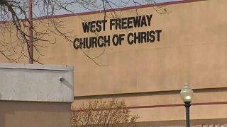 تصویری از کلیسای محل تیراندازی در تگزاس