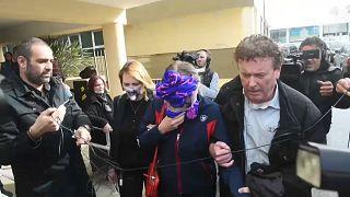 المرأة البريطانية تغادر المحكمة بعد صدور الحكم-قبرص-30/12/2019