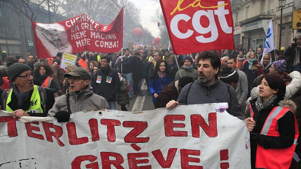 The boss of the CGT union says Macron is imitating Margaret Thatcher