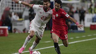 صورة من لقاء كأس آسيا لكرة القدم بين إيران واليمن في  الإمارات العربية المتحدة  2019