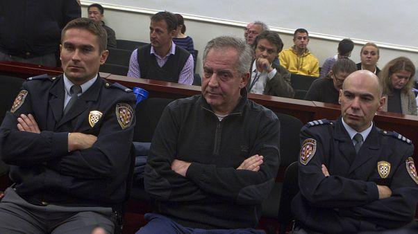 Ivo Sanader, dans un tribunal de Zagreb, en Croatie, lors de l'ouverture de son procès pour corruption en 2011.