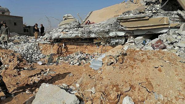جانب من الدمار الذي خلفته الضربات الأمريكية على أهداف لكتائب حزب الله العراقية 30 ديسمبر 2019
