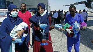 کودکان زخمی انفجار سومالی