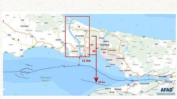 Kanal İstanbul haritası