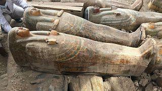 Luksor'da 30 ahşap lahit keşfedildi