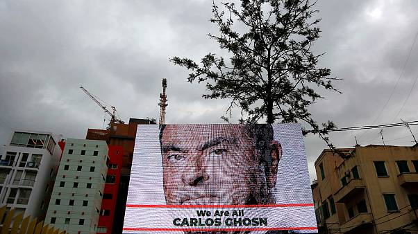Lübnan'da reklam panosu : Hepimiz Carlos Ghosn'uz