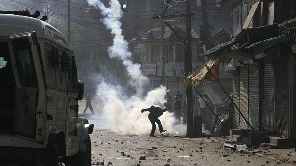 Keşmir'de protesto gösterileri (Arşiv)