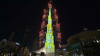عروض برج خليفة للاحتفال بالعام الجديد