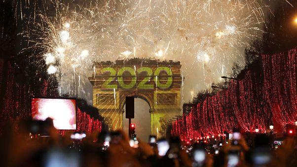 París celebra el Año Nuevo