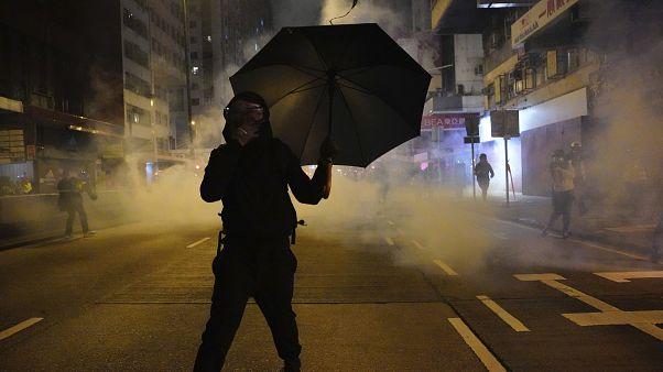 Un manifestant à Hong Kong