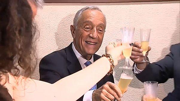 Presidente de Portugal brindou na ilha do Corvo à entrada no novo ano