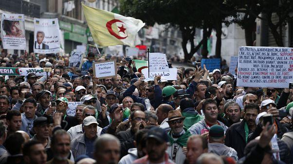 محتجون يتظاهرون في شوارع العاصمة الجزائرية