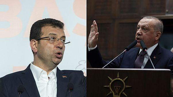 الرئيس التركي رجب طيب أردوغان وعمدة اسطنبول