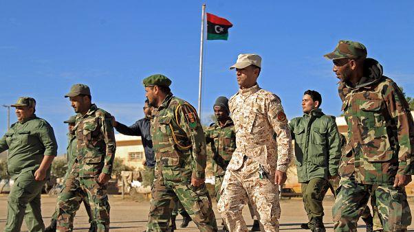 Libya'da Haftar'a bağlı askerler