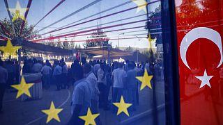 Avrupa Birliği ve Türkiye bayrağı