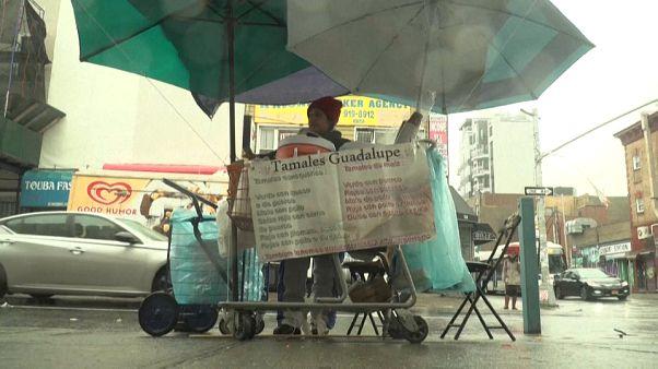 La vendedora ambulante Guadalupe Galicia, en las calles de Nueva York