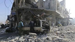 حمله نیروهای دولتی به ادلب در سوریه