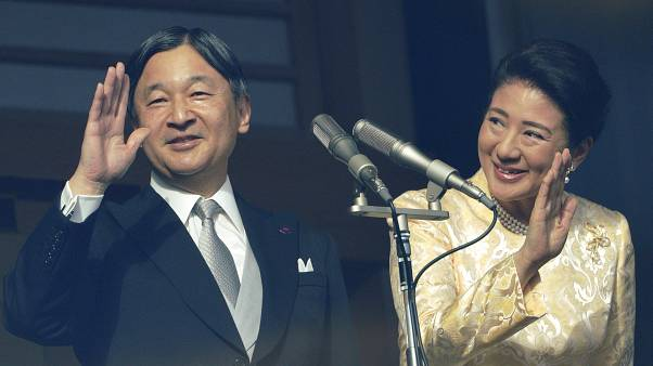 الإمبراطور الياباني ناروهيتو وعقيلته