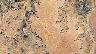 NASA, 3,5 kilometrelik gizemli sanat eserinin uydu fotoğrafını paylaştı