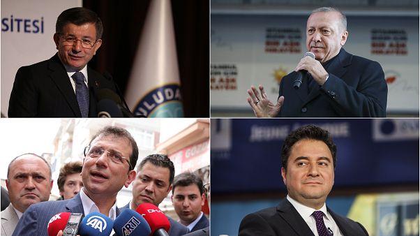 Ahmet Davutoğlu, Recep Tayyip Erdoğan, Ekrem İmamoğlu ve Ali Babacan