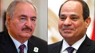 General Halife Hafter ve Mısır Devlet Başkanı Abdulfettah el Sisi