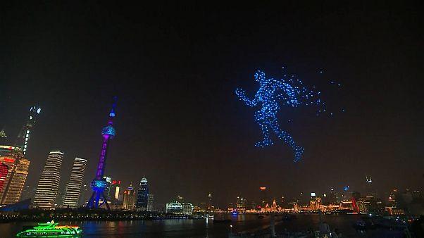 شانگهای در سال نو با دو هزار پهپاد روشن شد