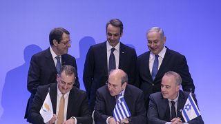 Firma del acuerdo para la construcción del gasoducto EastMed entre Chipre, Grecia e Israel