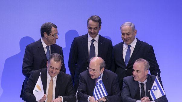 İsrail, Kıbrıs, Yunanistan liderleri Eastmed imza töreninde