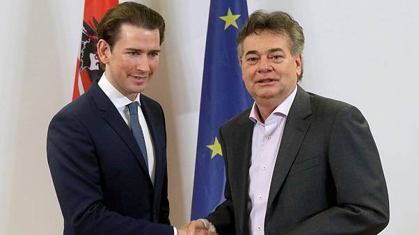 Avusturya Şansölyesi Sebastian Kurz ve Yeşiller Partisi Lideri Werner Kogler