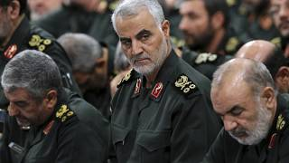 In this Sept. 18, 2016 photo Qassem Soleimani attends a meeting in Tehran.