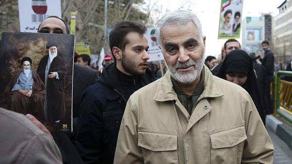 İran Devrim Muhafızları ordusu Kudüs Gücü Komutanı Kasım Süleymani / Tahran