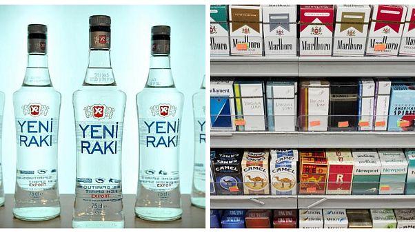 TÜFE ana harcama grubunda son bir yılda en çok alkol ve tütünün fiyatı arttı