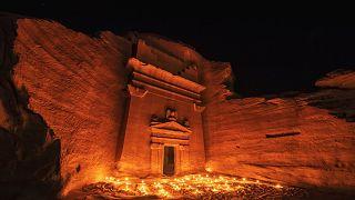 إحدى المعالم الأثرية في العلا - المملكة العربية السعودية.