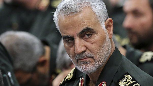 FILE- In this Sept. 18, 2016 phot Revolutionary Guard Gen. Qassem Soleimani
