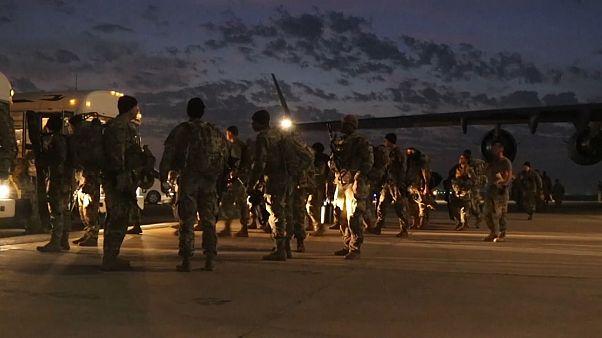 شماری از نیروهای نظامی آمریکا وارد بغداد شدند