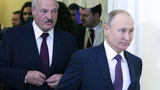Russian President Vladimir Putin, right, and Belarusian President Alexander Lukashenko.