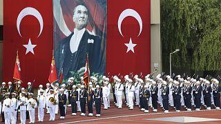 Milli Savunma Üniversitesine bağlı deniz, kara, hava harp okulları mezuniyet töreni