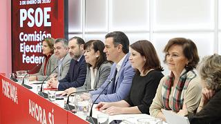 Reunión de la Comisión Ejecutiva Federal del PSOE para analizar el acuerdo de investidura