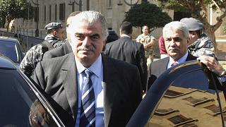 Archive - L'ancien Premier ministre libanais Rafik Hariri quelques minutes avant son assassinat le 14 février 2005
