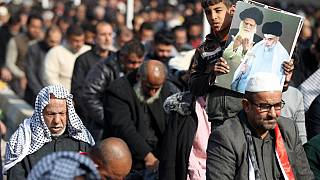 Thousands mourn Iranian general Qassem Soleimani at funeral in Baghdad