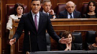 Spanish parliament debates Sanchez's left-wing coalition plan