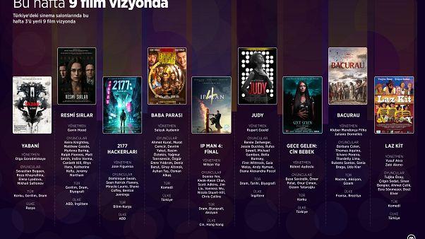 Türkiye'deki sinema salonlarında bu hafta 3'ü yerli 9 film vizyonda