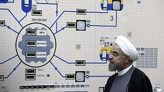 الرئيس الإيراني حسن روحاني في مفاعل بوشهر الذري