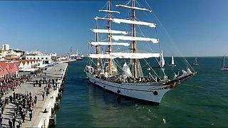 El Sagres inicia en Lisboa su navegación más larga